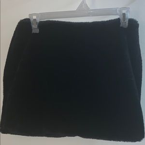 Mini faux fur skirt